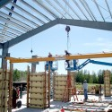 1 ton under running single girder crane installed in a hazardous environment at a US Airforce base in Alaska