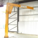 CRS supplied this 1 Ton Freestanding Jib crane with a custom designed base plate to maximize floor space around the base of the jib.