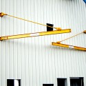 CRS supplied and installed two 1 Ton tie-rod style jib cranes for outdoor service in Edmonton, Alberta.
